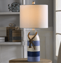 Blue & White Striped Buoy Table Lamp