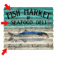 Bluefish Personalized Corrugated Metal Sign