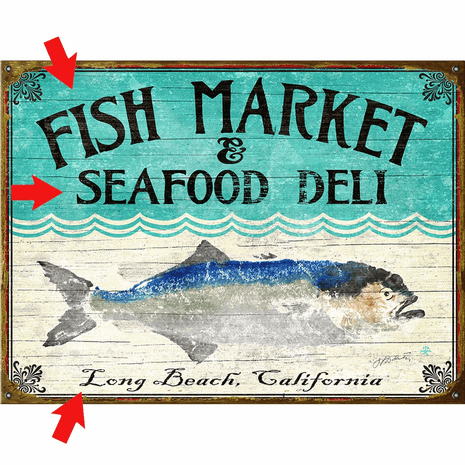 Bluefish Personalized Sign - 28 x 38
