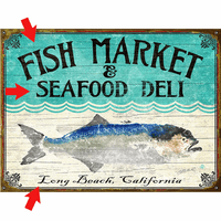 Bluefish Personalized Signs