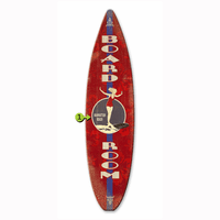 Board Room Surfboard Wood Personalized Sign - 12 x 44