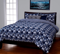 Boardwalk Blue Duvet Set - Full