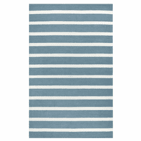 Boardwalk Gray Striped Rug - 5 x 8