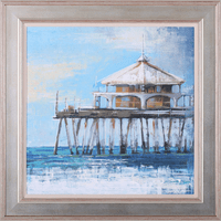 Boardwalk Pier Framed Print