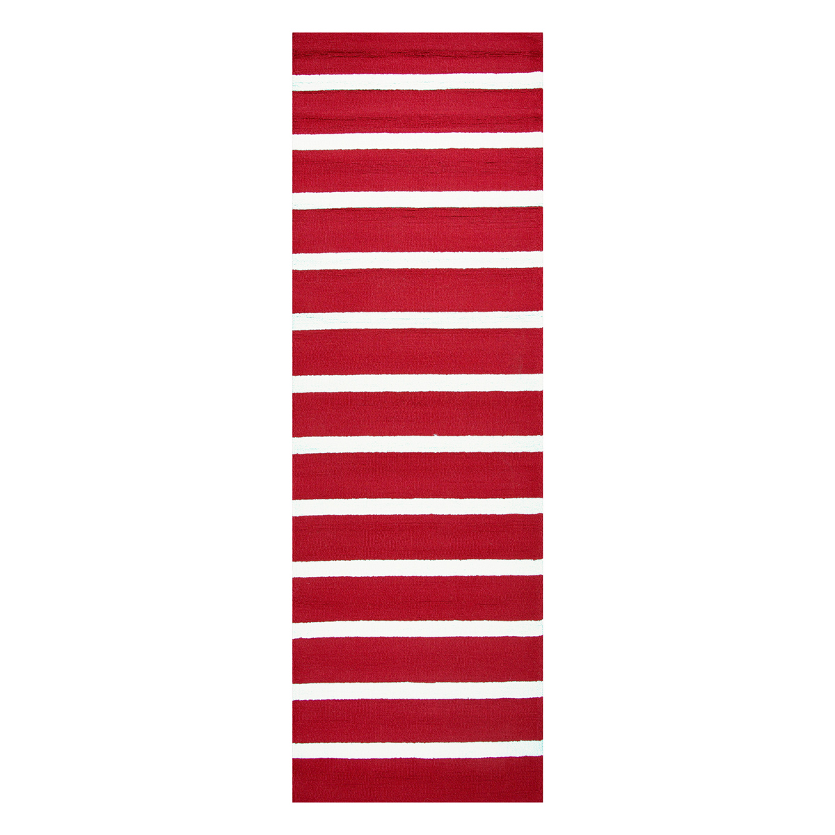 Nautical Area Rugs 3 X 8 Boardwalk Scarlet Red Striped Rug
