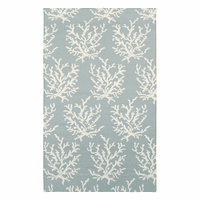 Boardwalk Small Coral Sky Blue Rug Collection