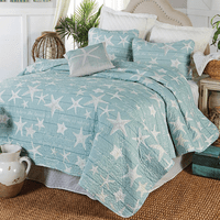 Boardwalk Starfish Quilt Set - Full/Queen