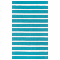Boardwalk Teal Striped Rug Collection