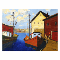 Boat Dock Canvas Art