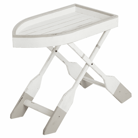 Boat Side Table with Oar Shaped Legs