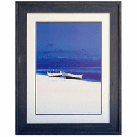 Boats on the Beach Framed Art