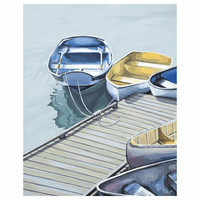 Boats on the Dock Canvas Art