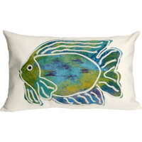Boho Fishin' Rectangle Indoor/Outdoor Pillow