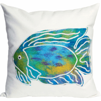 Boho Fishin' Square Indoor/Outdoor Pillow