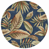 Botanical Oasis Rug - 6 Ft. Round