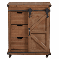Bradford Natural Wood 3-Drawer Cabinet
