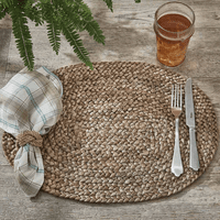 Braided Jute Oval Placemats - Set of 6