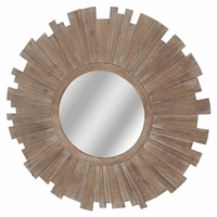 Brandon Round Sunburst Mirror