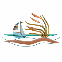 Breezy Beach Sailboat Wall Art