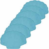 Bright Blue Scallop Placemat - Set of 6