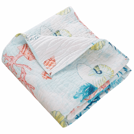 Bright Coral Reef Throw