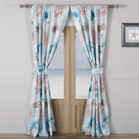 Bright Coral Reef Drapes