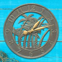 Paradise Palms Outdoor Wall Clock