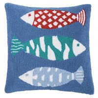 Brookside Fish Hooked Pillow