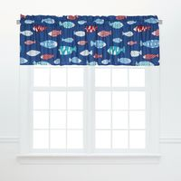 Brookside Fish Valance - Set of 2