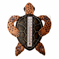 Brown Turtle Large Window Thermometer