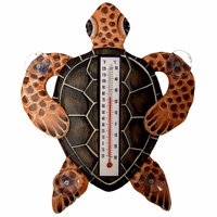 Brown Turtle Small Window Thermometer