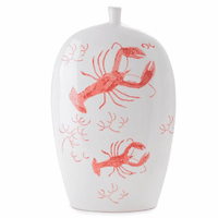 Brunswick Bay Hand-Painted Lobster Vase