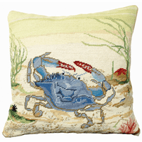 Brunswick Blue Crab Pillow