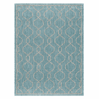 Bungalow Aqua Indoor/Outdoor Rug Collection