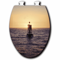Buoy at Sunset Toilet Seats