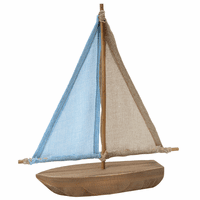 Burlap & Wood Sailboat