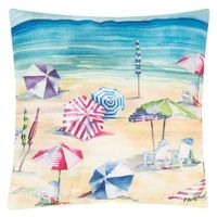 Busy Beach Pillow