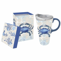 By the Sea Ceramic Travel Cup