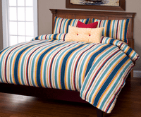 Cabana Stripe Royal Duvet Set - Queen