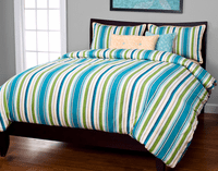 Cabana Stripe Turquoise Duvet Set - Twin