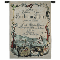 Cabinet of Conchology Wall Tapestry