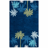Cabot Bay Blue Palms Rug Collection