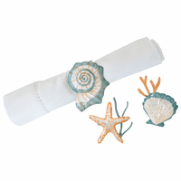 Caicos Shells Napkin Rings - Set of 6