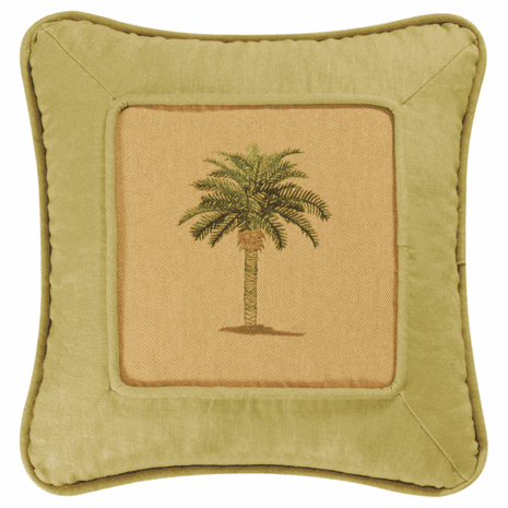 Calm Palm Pieced Pillow