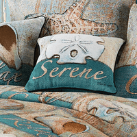 Calming Coastal Serene Accent Pillow