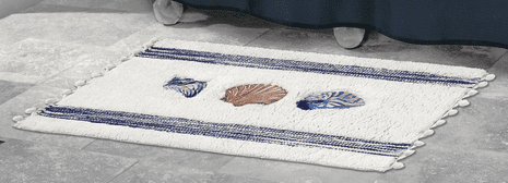 Camden Shells Coastal Bath Mat