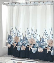 Camden Shells Coastal Shower Curtain