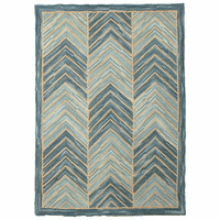 Camp Blue Chevron Rug Collection