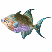 Canberra Trigger Fish Metal Wall Art