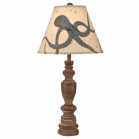 Candlestick Table Lamp with Octopus Shade